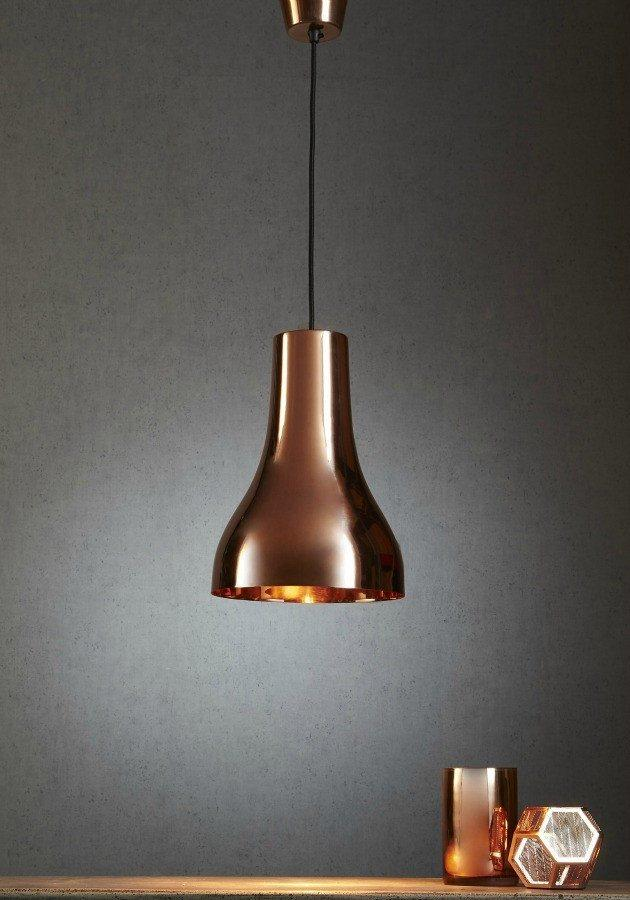 Pendant - Beaker Copper Pendant Light