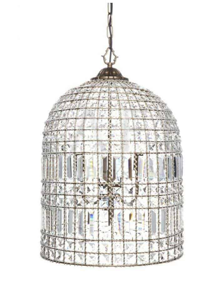 Pendant - Belle Medium Bell Crystal Pendant Lights