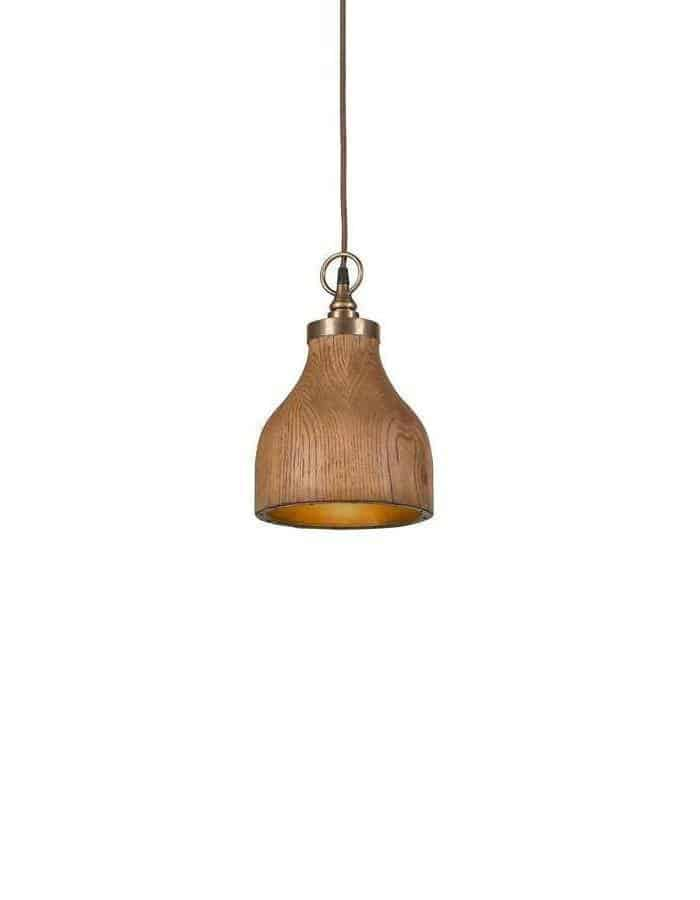 Pendant - Big Sur Wood Pendant Light Small
