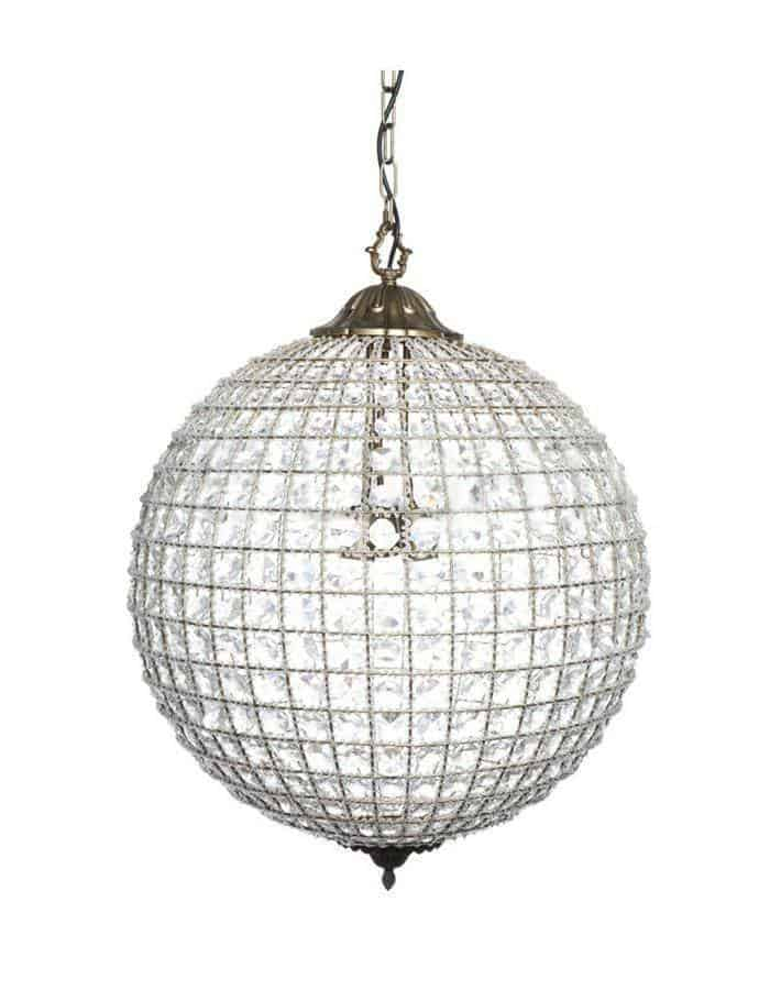 Bohemia Crystal Globe Pendant Light Large - Chic Chandeliers