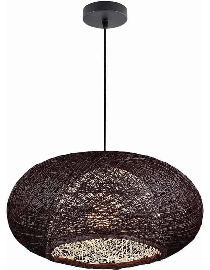 Pendant - Bordo Chocolate Wicker Pendant Light