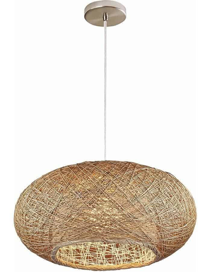 Pendant - Bordo Natural Wicker Pendant Light