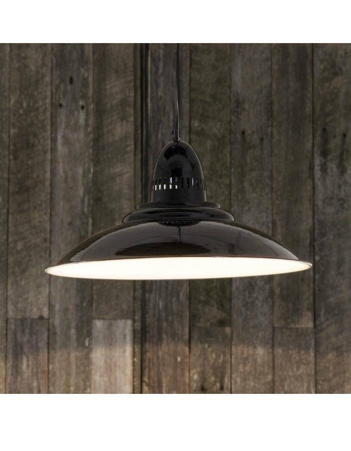 Pendant - Brighton Black Retro Pendant Light