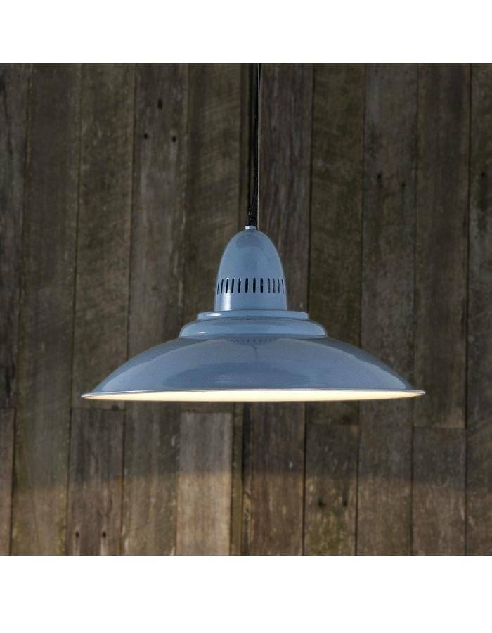 Pendant - Brighton Blue Retro Pendant Light