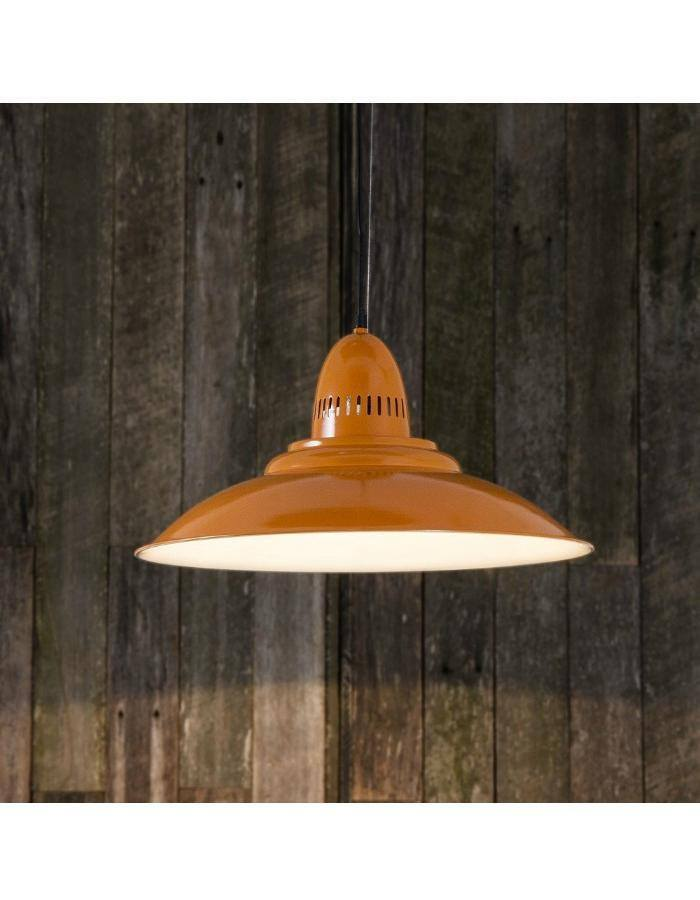 Pendant - Brighton Orange Retro Pendant Light