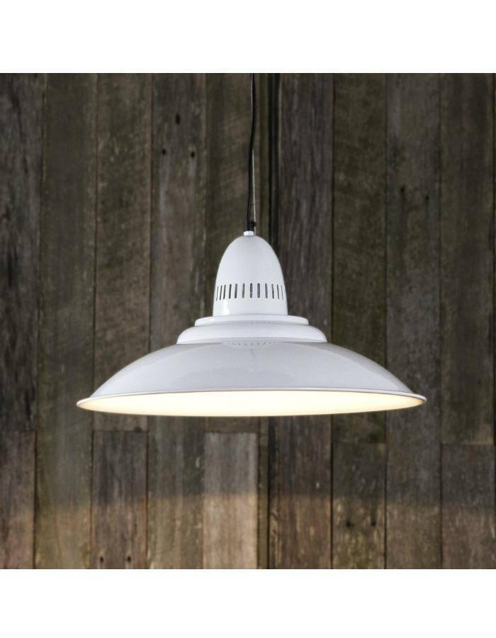 Pendant - Brighton White Retro Pendant Light
