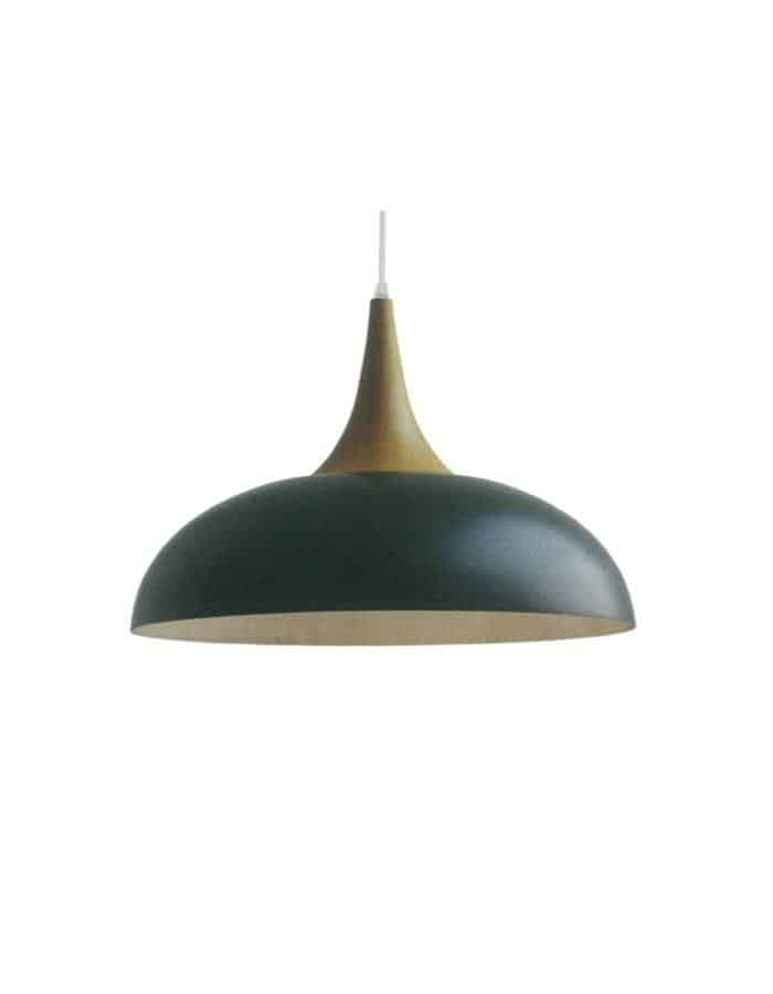 Pendant - Brindisi Black And Wood Pendant Light