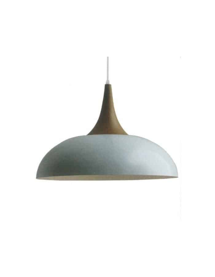 Pendant - Brindisi White And Wood Pendant Light