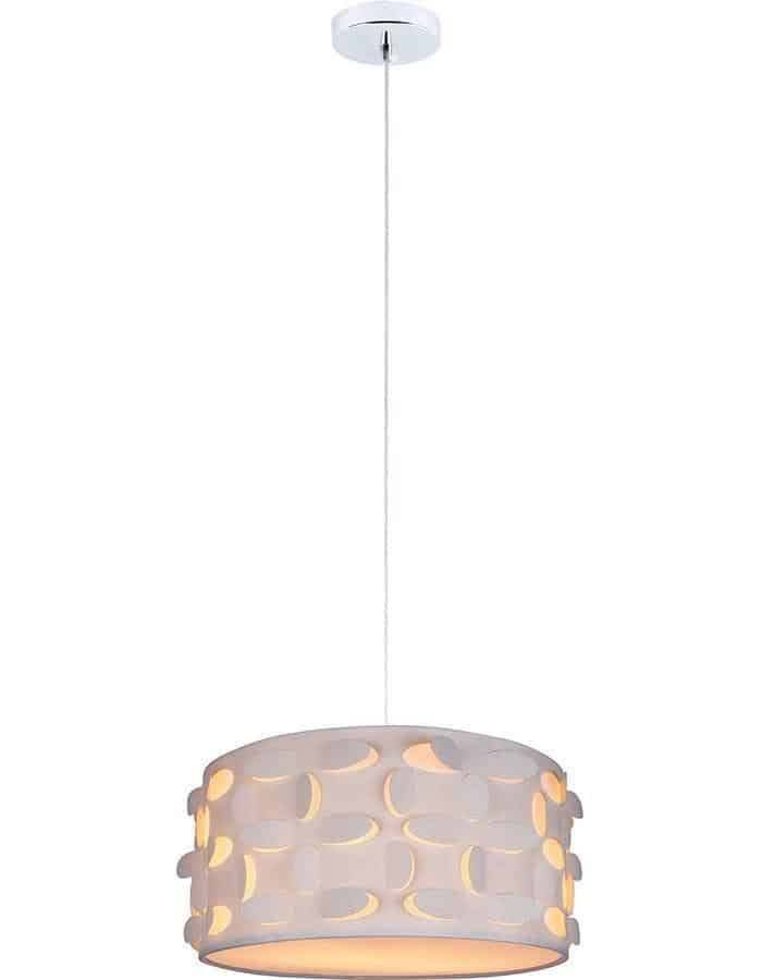 ... Pendant   Buko White Drum Pendant Light ...
