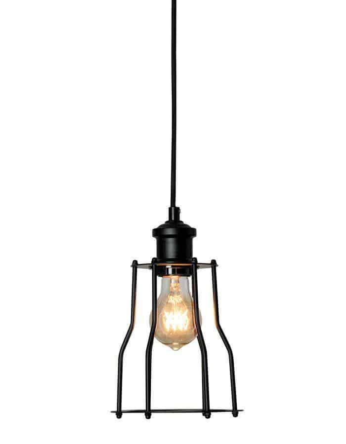 Pendant - Cage 18 Black Pendant Light