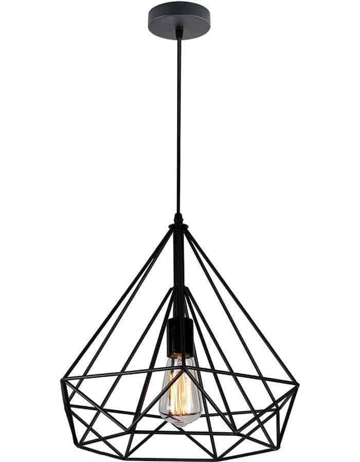 Cervo black cage pendant light large chic chandeliers pendant cervo black cage pendant light large mozeypictures Image collections