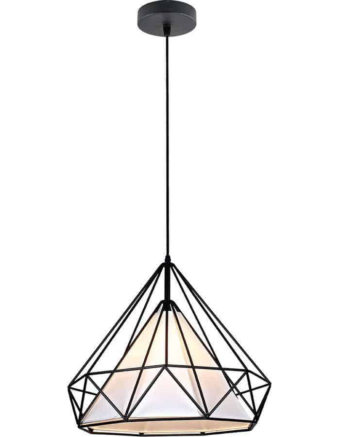 Pendant - Cervo Black Cage Pendant Light Medium