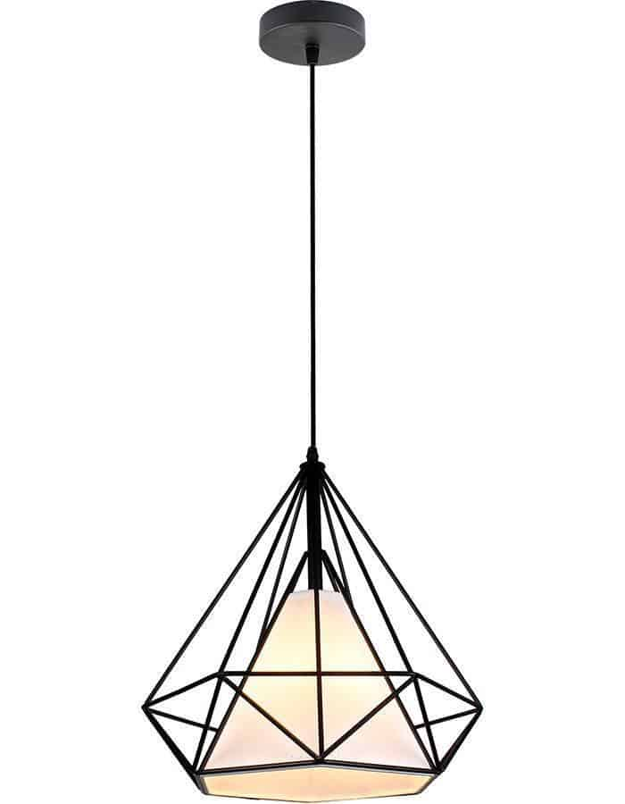 Pendant - Cervo Black Cage Pendant Light Small