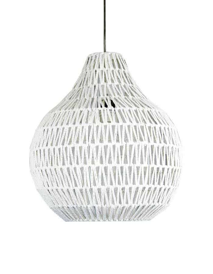 Pendant - Cooper Large White String  Pendant Light