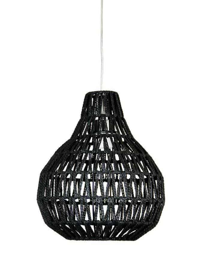 Pendant - Cooper Small Black String Pendant Light