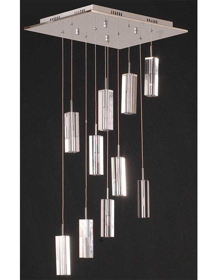 Pendant - Cubo 10 Light Spiral Pendant Light