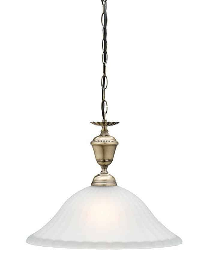 Pendant - Edgewood Antique Brass Pendant Light