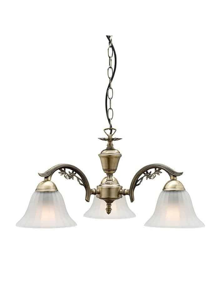 Pendant - Edgewood Antique Brass Three Light Pendant Light