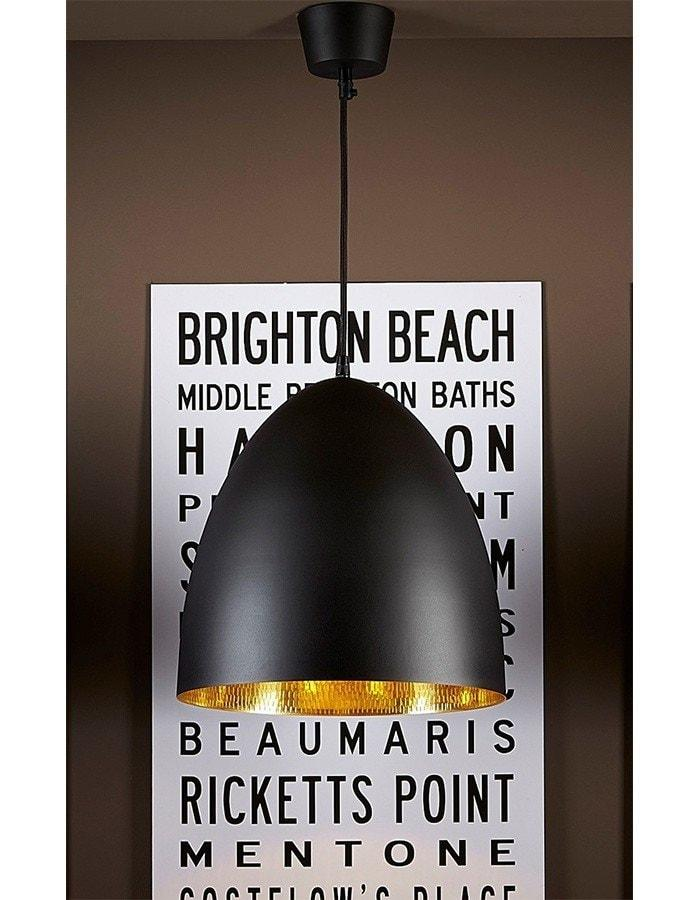 Pendant - Egg Black Label Brass Pendant Light