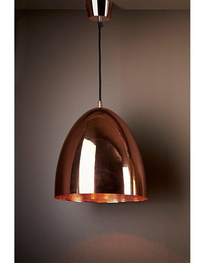 Egg copper pendant light with beaten interior chic chandeliers pendant egg copper pendant light mozeypictures Gallery
