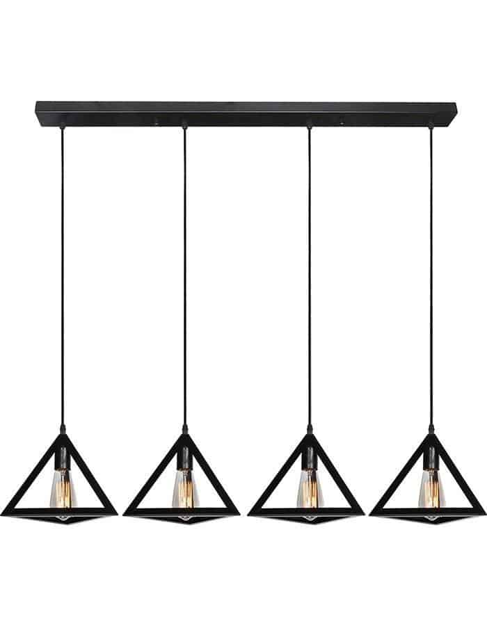 Pendant - Equator Four Light Metal Pendant Light