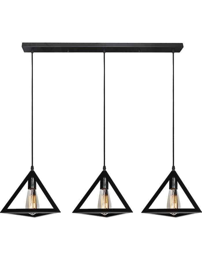 Pendant - Equator Three Light Metal Pendant Light