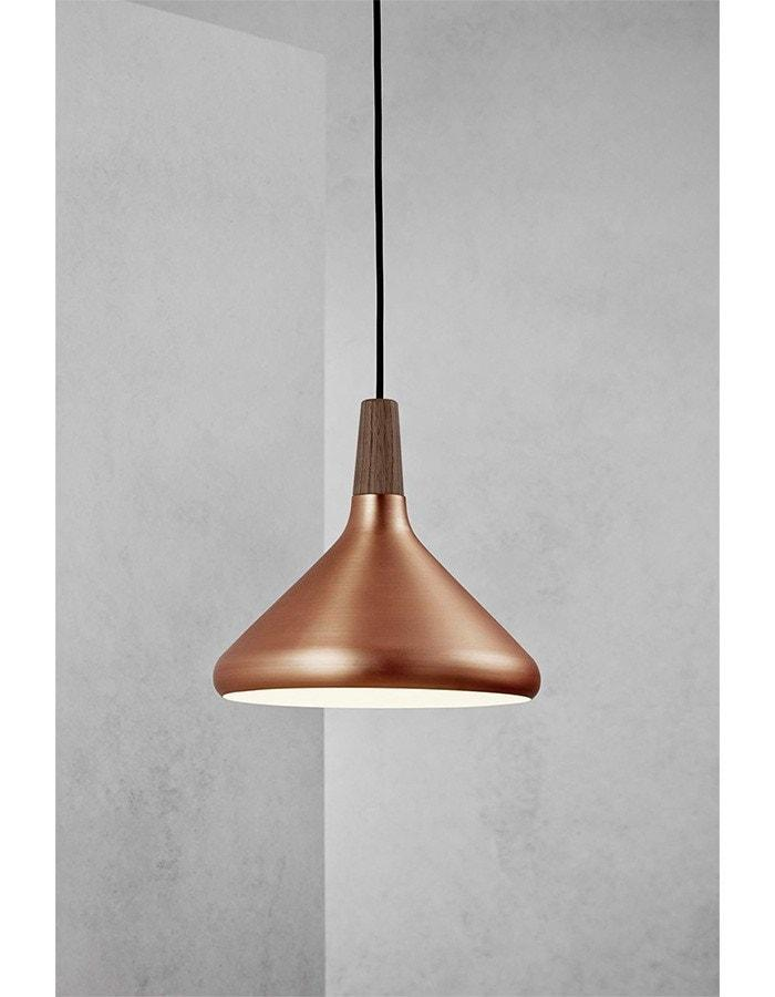 Float 27 copper pendant light by nordlux chic chandeliers float 27 brushed copper pendant light mozeypictures Gallery