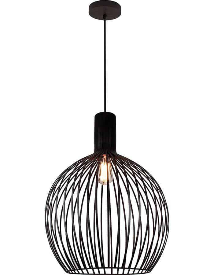 Pendant - Gabbia Black Pendant Light Small