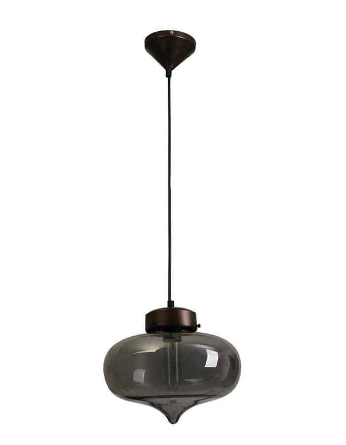 Pendant - Hartford #14 Pendant Light Smoked Glass
