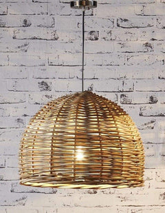 Rattan pendant light small chic chandeliers mozeypictures Images