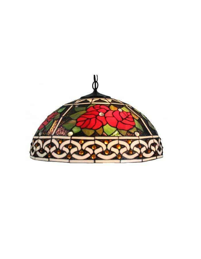 Pendant - Red Roses Tiffany Leadlight Pendant Light