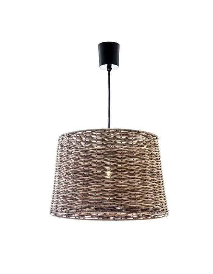 Wicker Small Round Pendant Light - Chic Chandeliers