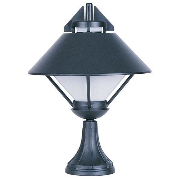 Pillar Mount - Apollo Black Pillar Mount Outdoor Light