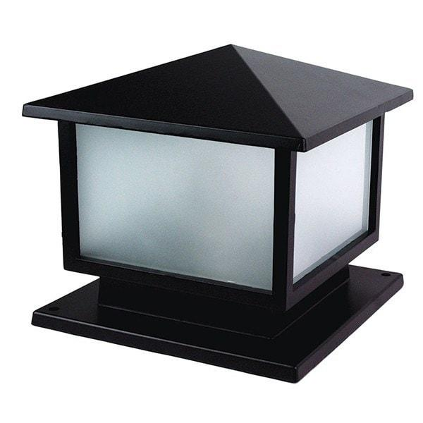 Pillar Mount - Cortez Black Pillar Mount Outdoor Light