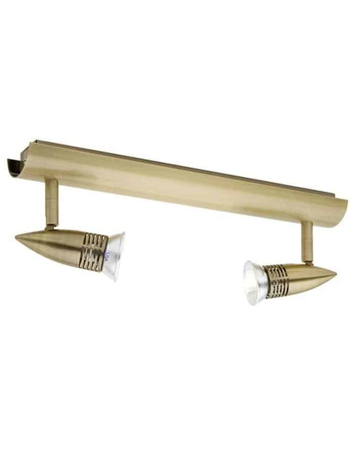 Proton Double LED Spotlight Brass