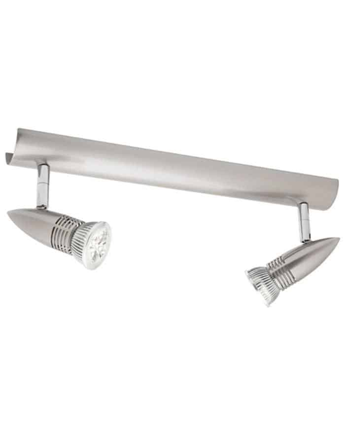 Proton Double LED Spotlight Satin Chrome
