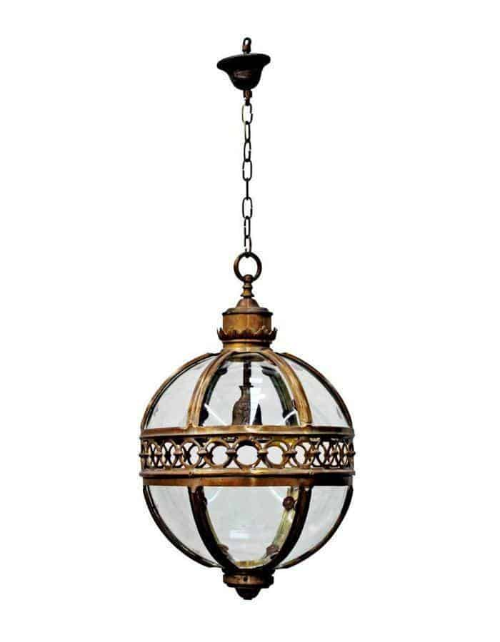 Traditional - Amalfi Antique Bronze And Glass Chandelier