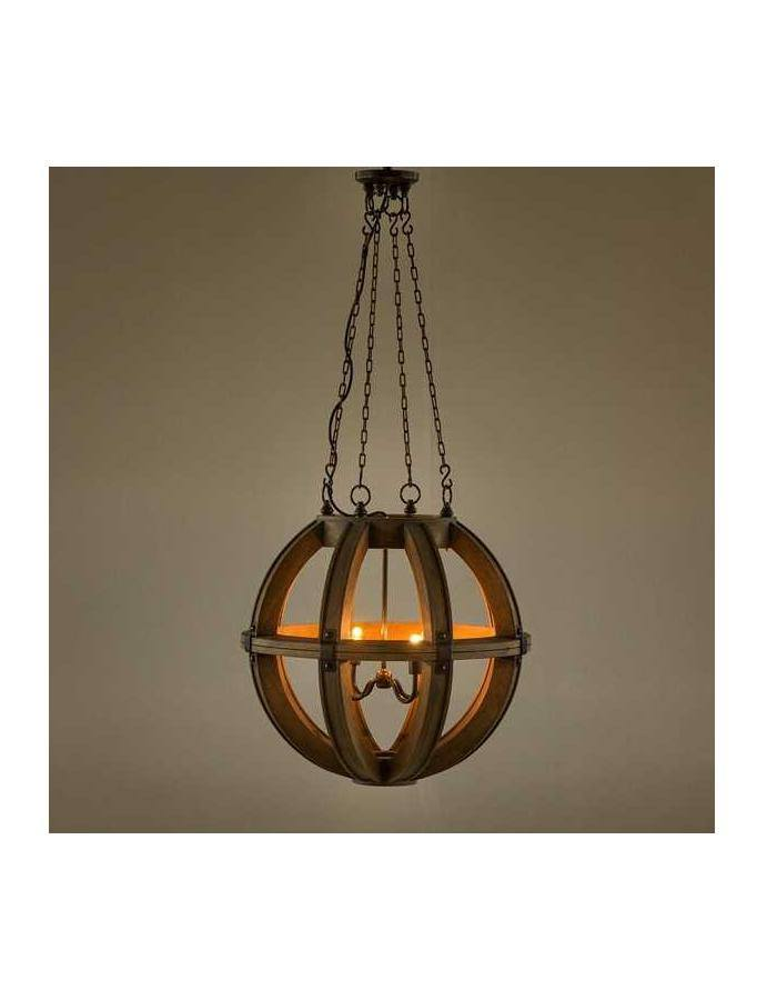 Traditional - Cambure Wooden Globe Chandelier - Four Light