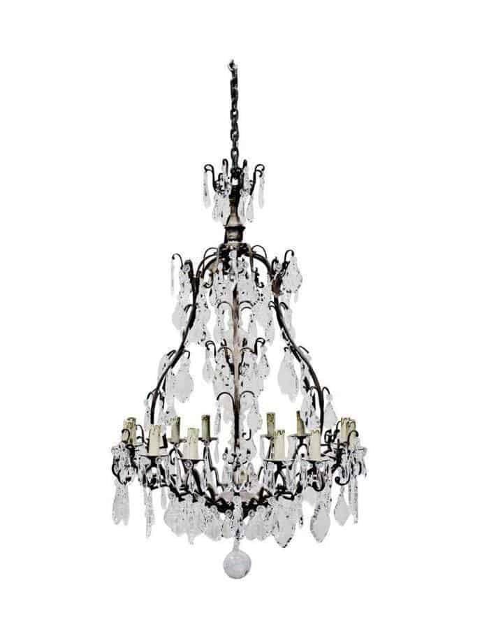 Traditional - Dominique 12 Light Glass Chandelier