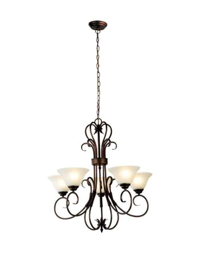 Traditional - Gaston 5 Light Chandelier
