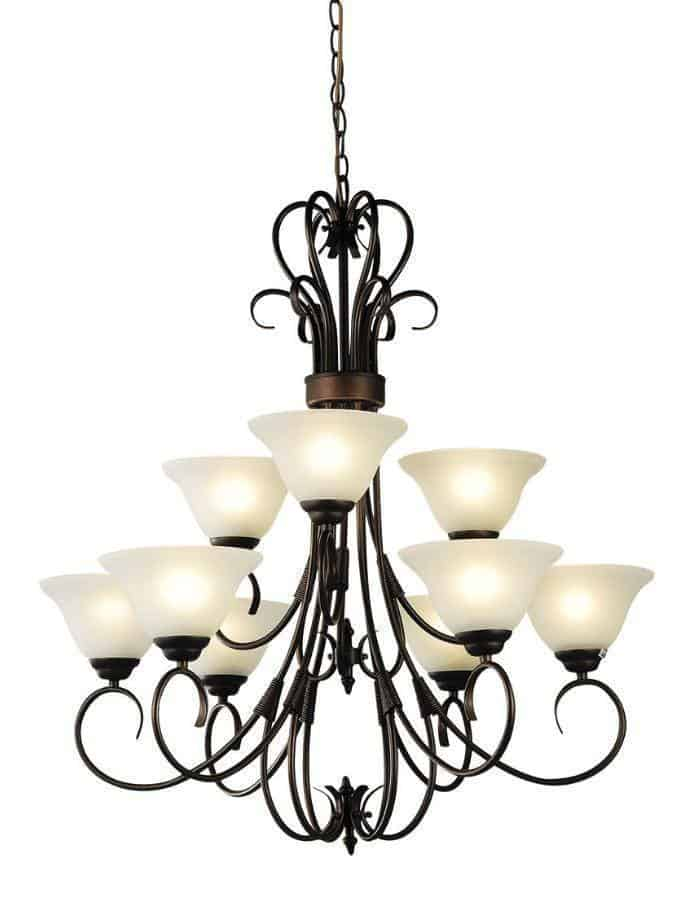 Traditional - Gaston 9 Light Chandelier