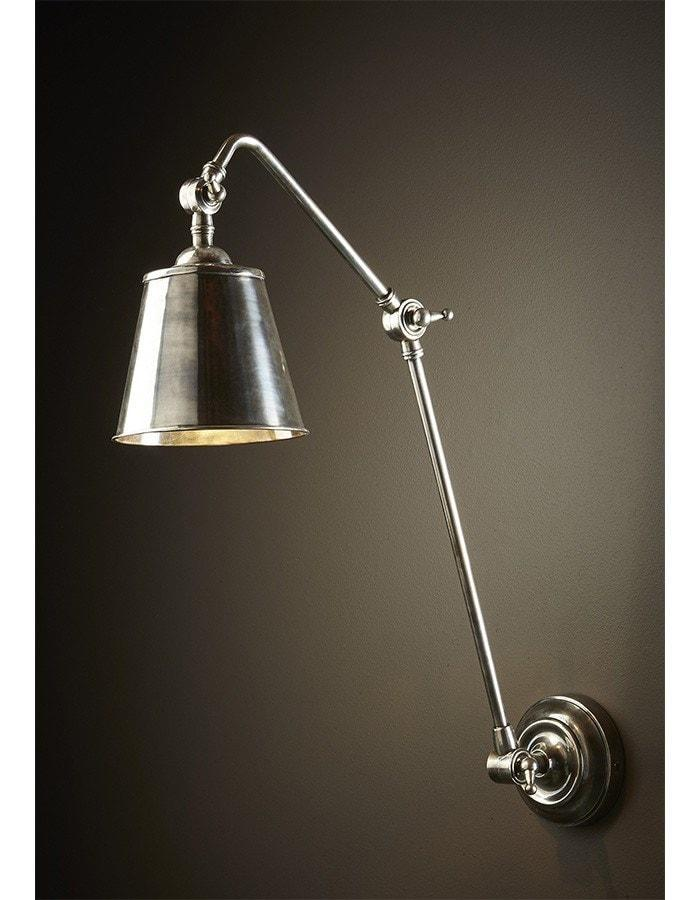 Wall Lamp - Cromwell Antique Silver Wall Lamp