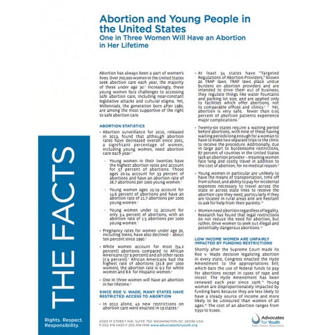 Abortion and Young People in the United States