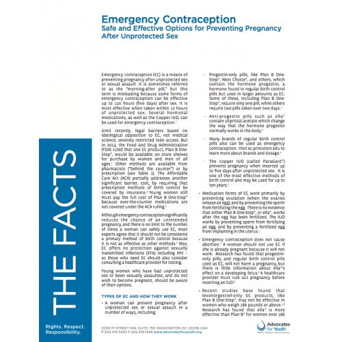 Emergency Contraception: Safe and Effective Options for Preventing Pregnancy After Unprotected Sex
