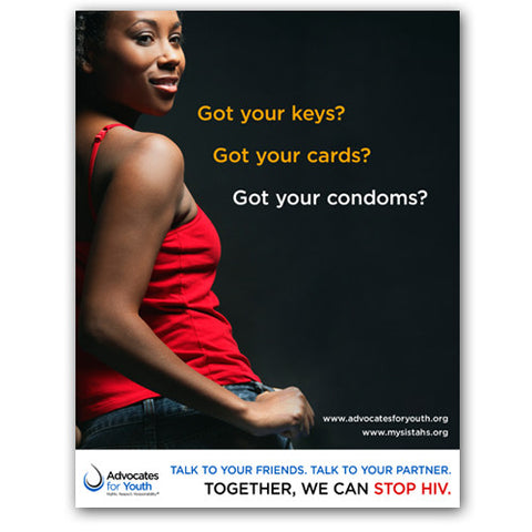 Keys, Cards, Condoms Poster