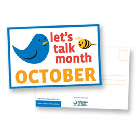 Let's Talk Month Postcard (25 Pack)