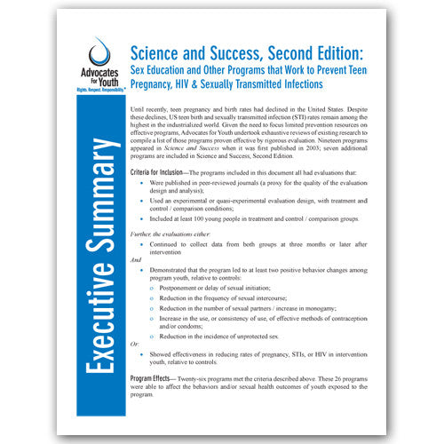Executive Summary: Science and Success, Second Edition