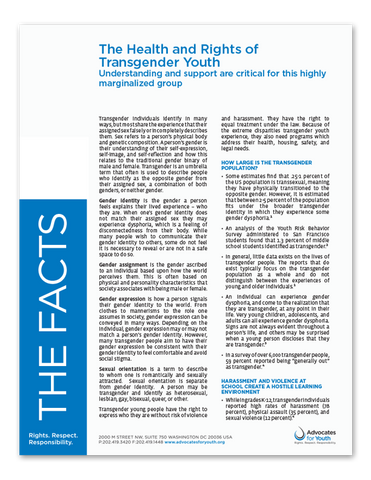 The Health and Rights of Transgender Youth