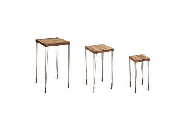 ARTE Beistelltisch (3er Set) - Beistelltisch - Nussbaum geschliffen, natur geölt - SOLIDMADE | Design Furniture - SOLIDMADE | Design Furniture - 1