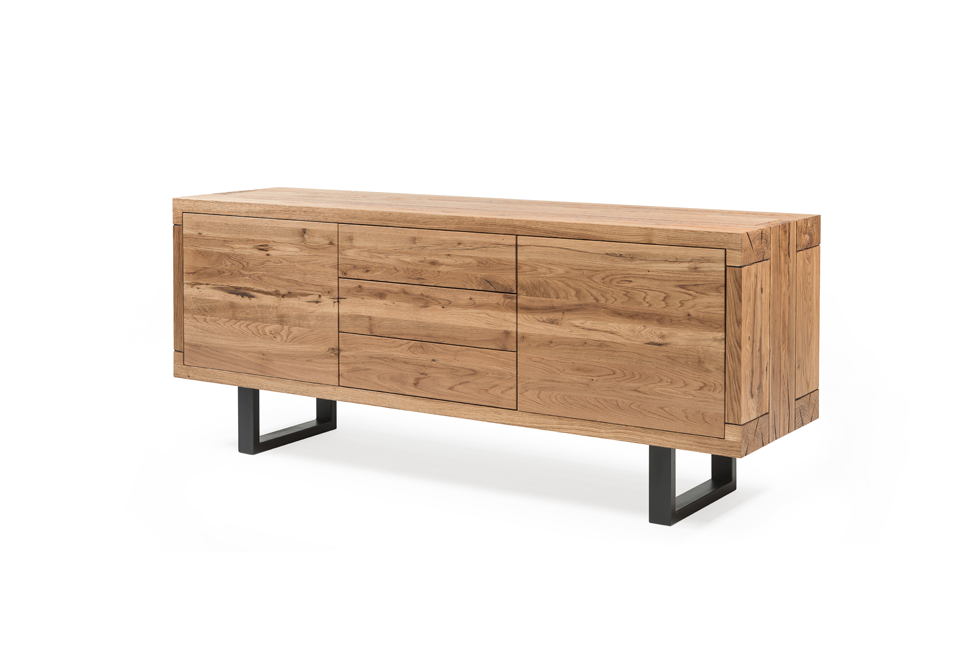 ARTISAN Sideboard - Kommode - Eiche gebürstet, natur geölt / L 120 x T 50 x H 75 cm - WHITEOAK - SOLIDMADE | Design Furniture - 1